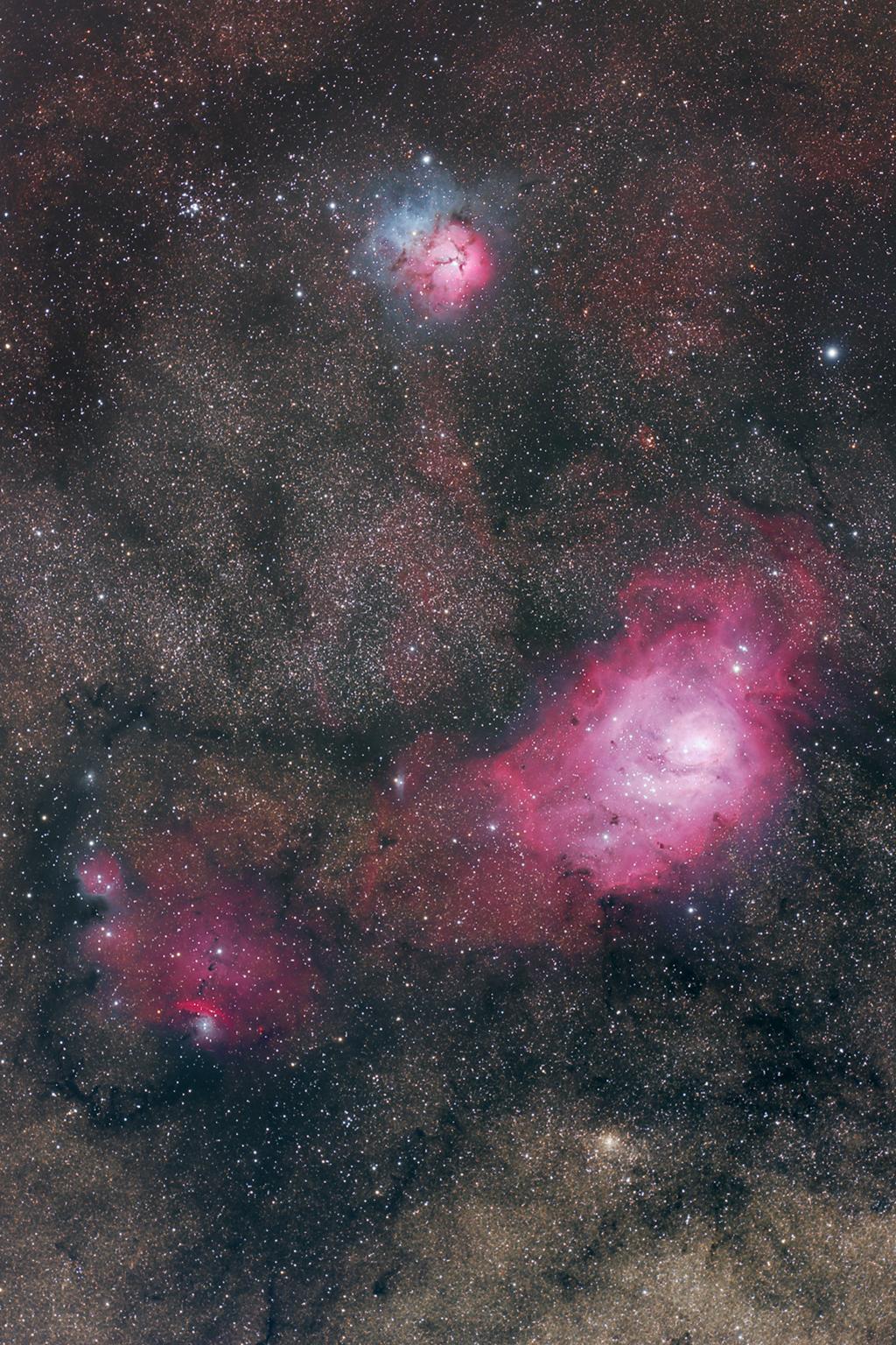 lagoon trifid nebula - photo #47