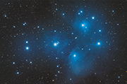 The Pleiades, an open star cluster in Taurus, images with an FLI ML11002-C and Takahashi TOA-150